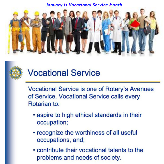 Image result for vocational service month rotary